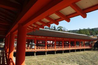 厳島神社の通路