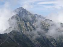⑥荒々しい剣岳