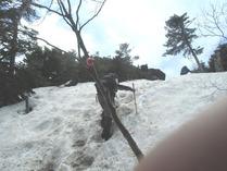 ⑨急登の雪道