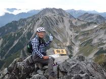 ⑭剣岳頂上