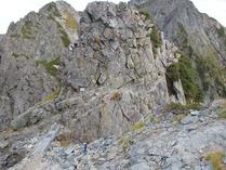 ⑫険しい登山道