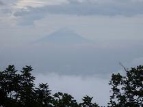 ④雲海での富士山