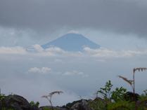 ⑩青年小屋での富士山