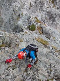 ⑬険しい登山道