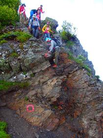 ⑬悪沢岳への登山道