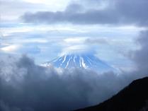 ⑯富士山の顔見せ