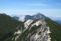 ⑤甲斐駒ケ岳2,967m(尾根の
