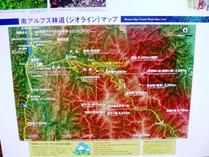 仙流荘P南アルプス林道マップ