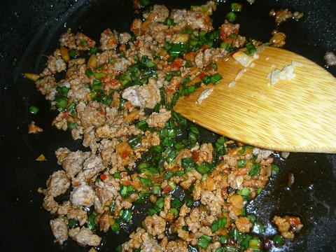 ひき肉と炒めて