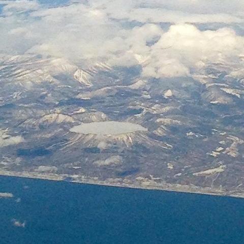 倶多楽湖の結氷