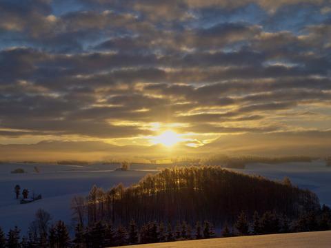 丘の日の出