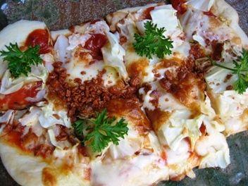 高原キャベツのピザ!