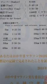 おかやまマラソン2018