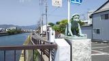 稚児橋、河童の像が4つある