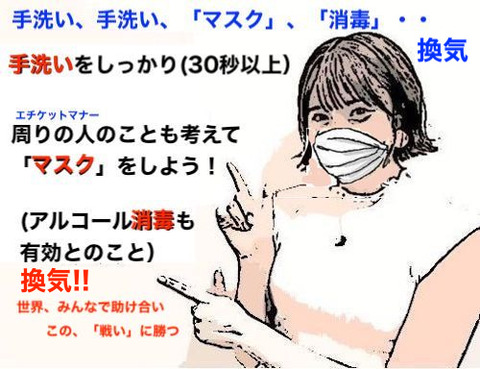 手洗い 消毒 マスク 換気