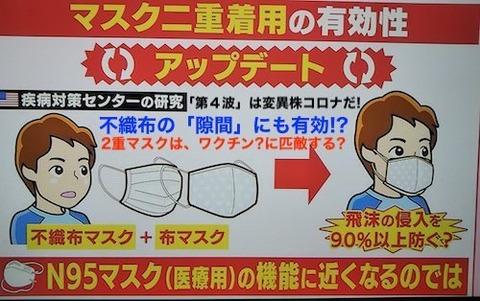 マスク2重で対策