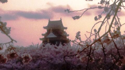 岡山城 さくら 夕暮れ DSC_0422 - コピー