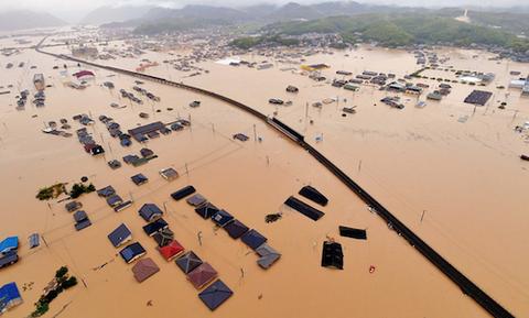 岡山 倉敷 真備 洪水 全体