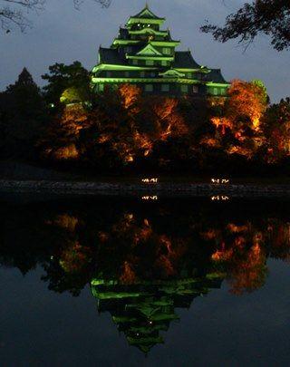 岡山城 秋夜DSC_0424