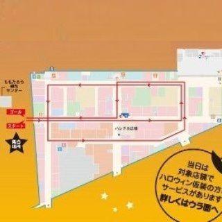 岡山一番街  仮装パレード 地図