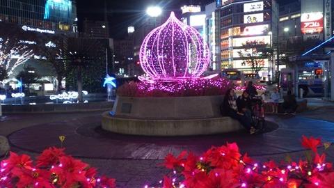 岡山駅前 イルミ DSC_0099