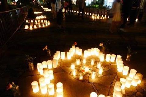 西川緑道公園 キャンドルライト