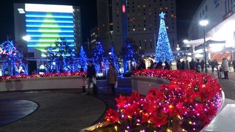 岡山駅前 イルミ DSC_0094