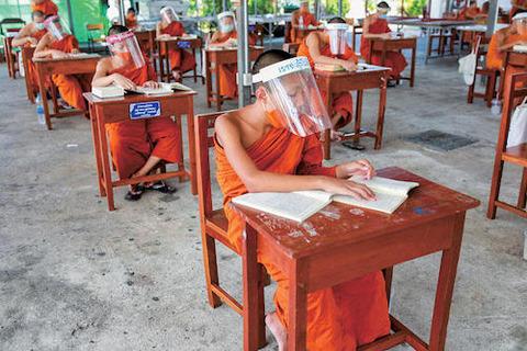 タイ王国 学習はフェイスシールド