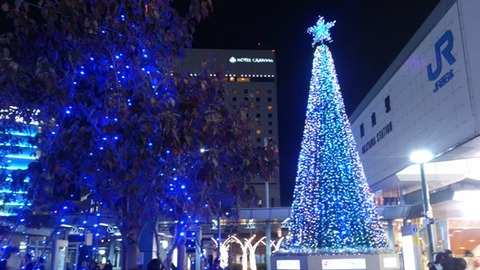 岡山駅前 イルミ DSC_0102