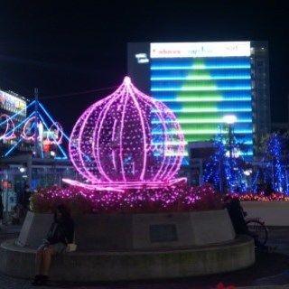 岡山駅前 イルミ DSC_0090 ss