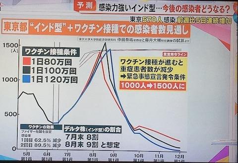 東京感染予想0624