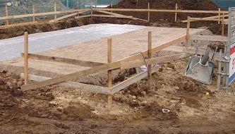 柱状改良 地業 掘削 水盛り やり方 根伐り 透湿防水シート スタイロ貼り 捨コン