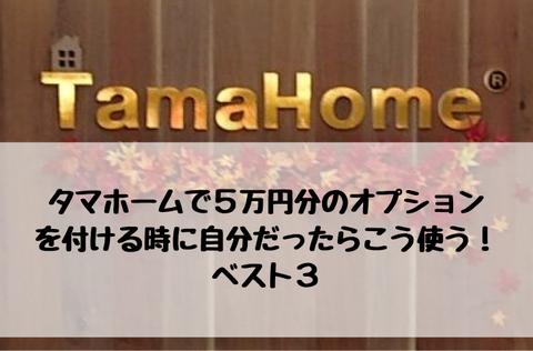 タマホーム 5万円分のオプション ベスト3