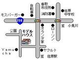 モデルハウス略図案内図