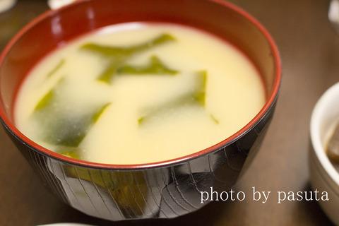 わかめと高野豆腐のお味噌汁