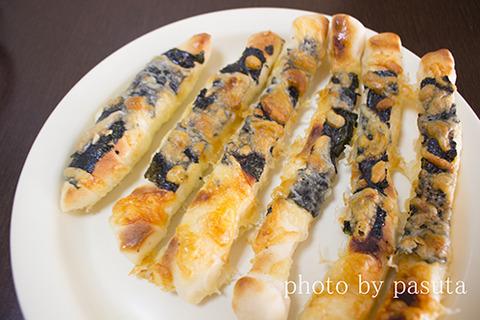 海苔チーズスティックパン