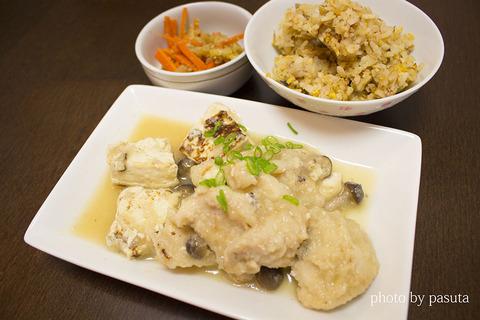 鶏と豆腐のみぞれ煮