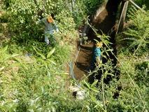 180718 山野草のエキ 作業 水タンク整備  (1)