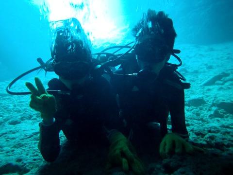 青洞體驗潛水