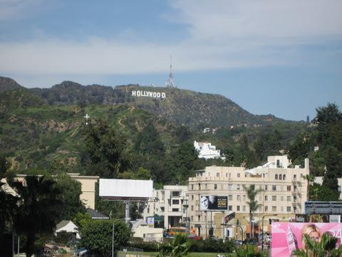 ハリウッドの文字を撮影