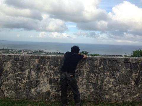 中城の写真を撮る