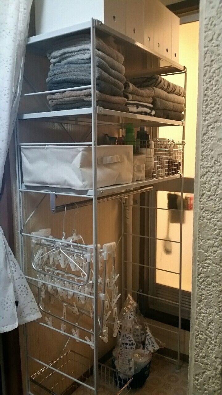 洗濯機ラック。 image