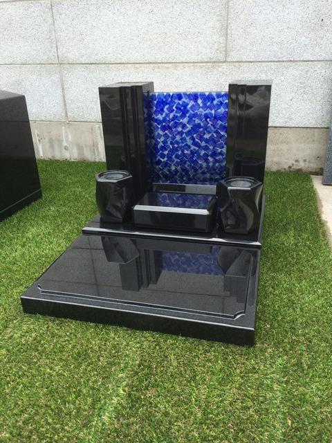 千葉県 青キャストガラス