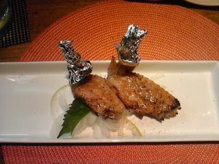 阿波地鶏 手羽開き 網焼き
