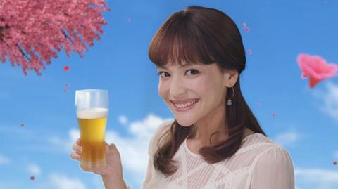 仲間リサ オリオンビール いちばん桜のCM13