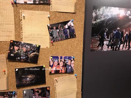 タイ洞窟 サイアムパラゴン 手紙 写真