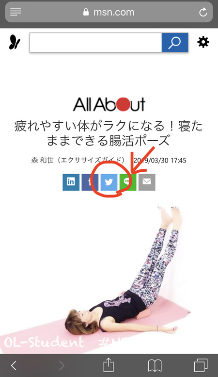 Safari Twitter 連動