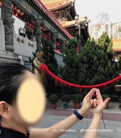 香港 嗇色園黄大仙祠 お祈り 赤い糸 1