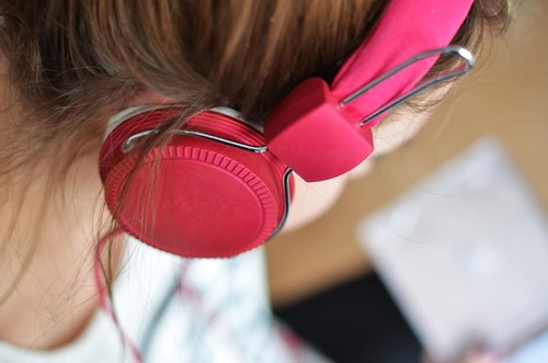 person-woman-music-pink
