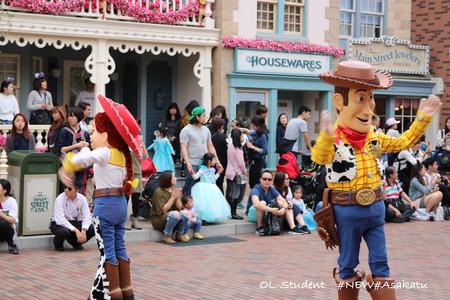 香港ディズニー おかしなパレード ジェシー&ウッディー1